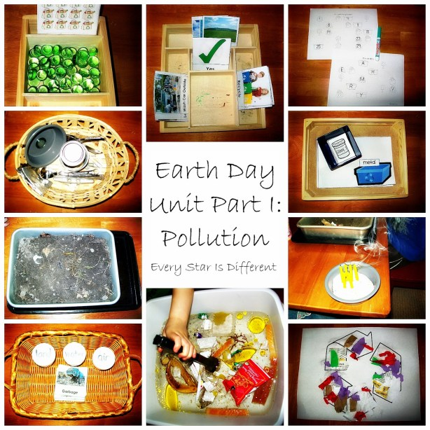 Earth Day Pollution Kids Learning activities