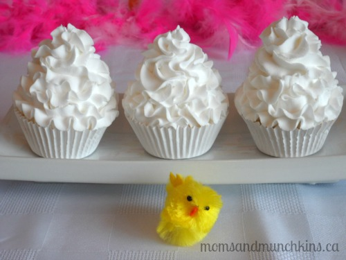 Cute Chick Easter Party Ideas and yummy cupcakes
