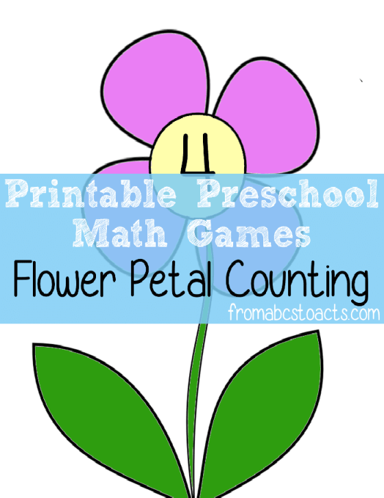 Preschool Math Games - Flower Petal Counting