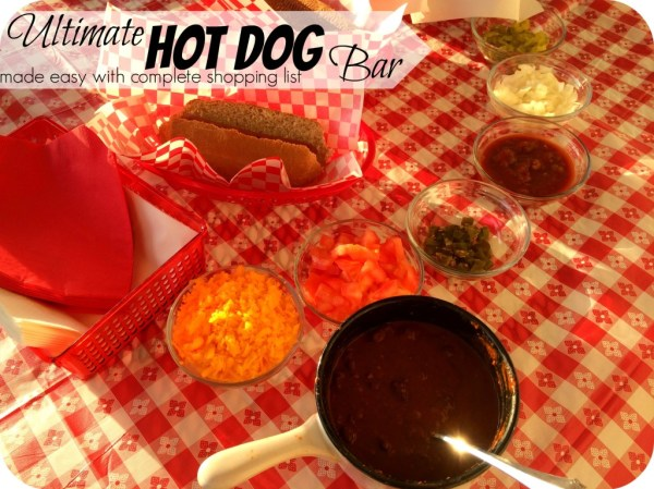 The Ultimate Hot Dog Bar with complete shopping list - Pounds4Pennies