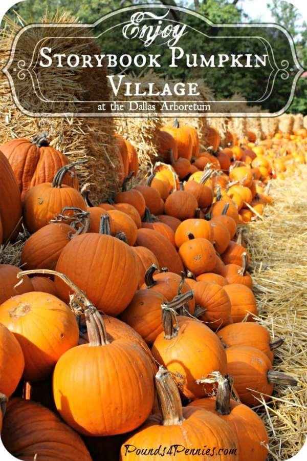 Storybook pumpkin Village Dallas Arboretum