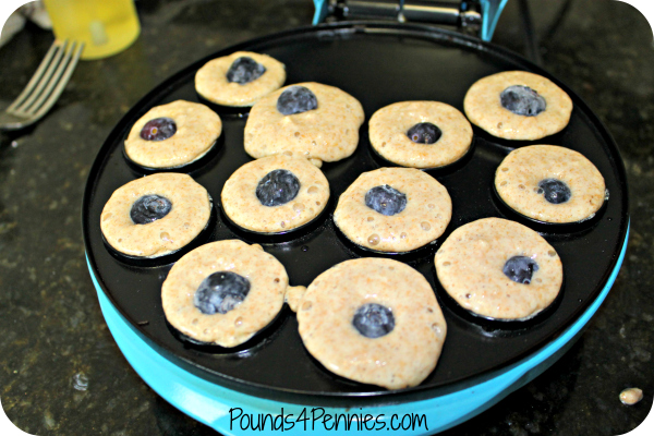 blueberry mini pancake bites