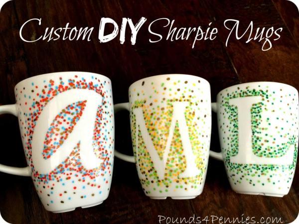 Custom DIY Sharpie Mugs