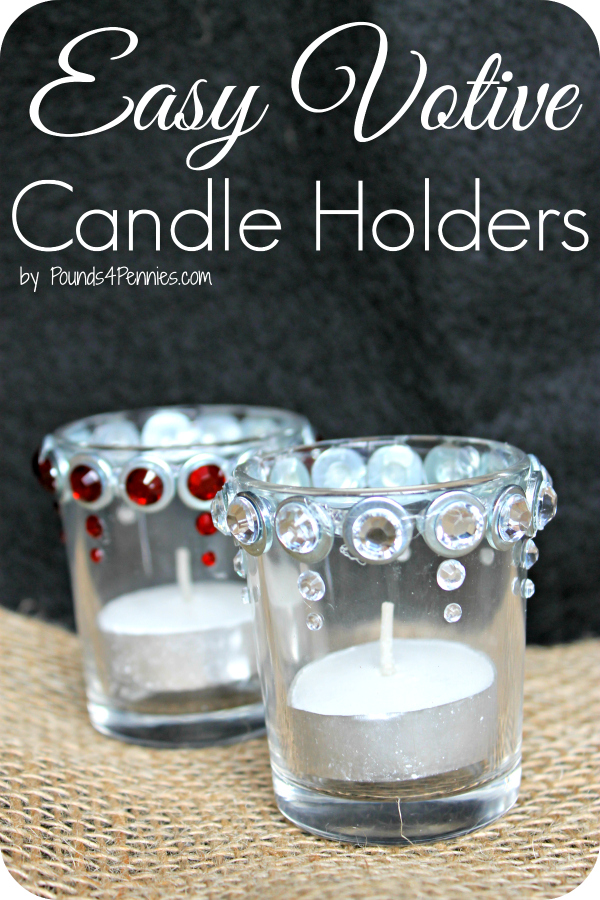 Easy Christmas Votive Candle Holders