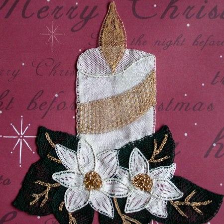 Christmas-Candle Lace making pattern