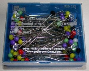 Prym Glass headed pins 48 x 0.8mm