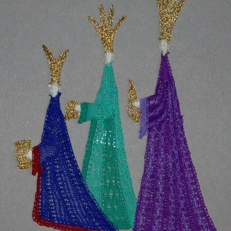 Three Kings - Milanese Lace Making Pattern