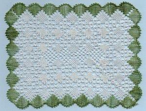 Rectangular Torchon bobbin lace pattern