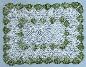 Rectangular Torchon bobbin lace pattern Peridot