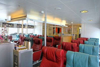 Onboard Bintan Ferry. (Photo: MainlyMiles)