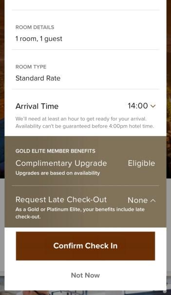 Marriott App Check-in