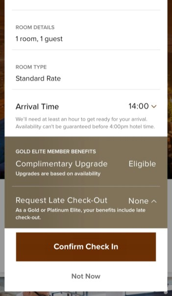 Marriott App Check-in
