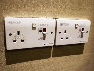 UK-style power sockets (Photo: MainlyMiles)