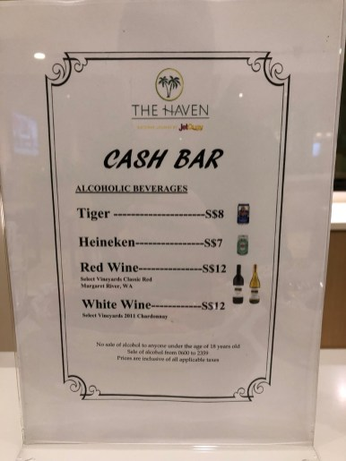 Bar menu (Photo: MainlyMiles)