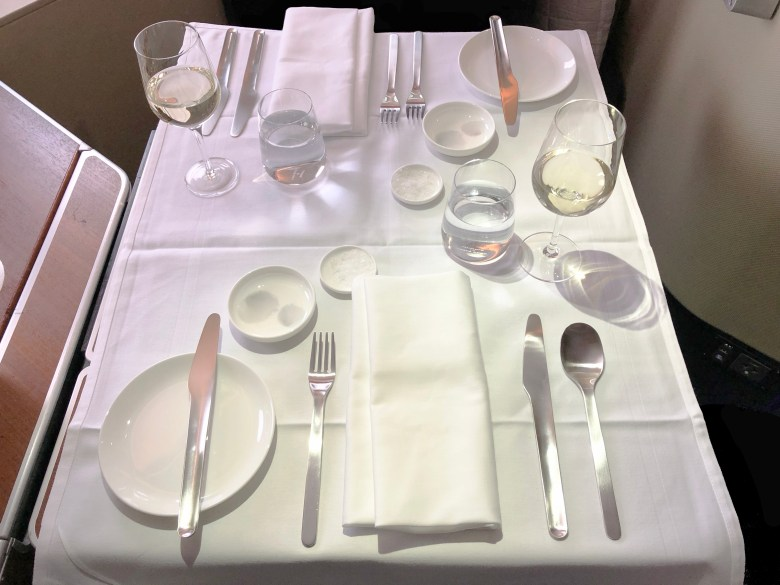 Qantas A380 First Class Dining Table