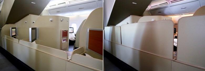 Qantas A380 First Class Dividers