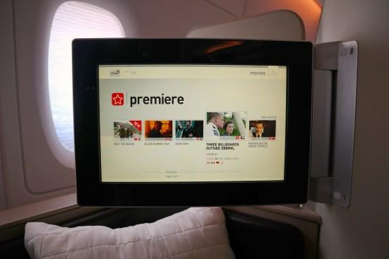 Qantas A380 First Class IFE
