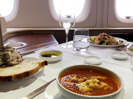 Qantas A380 First Class Starters