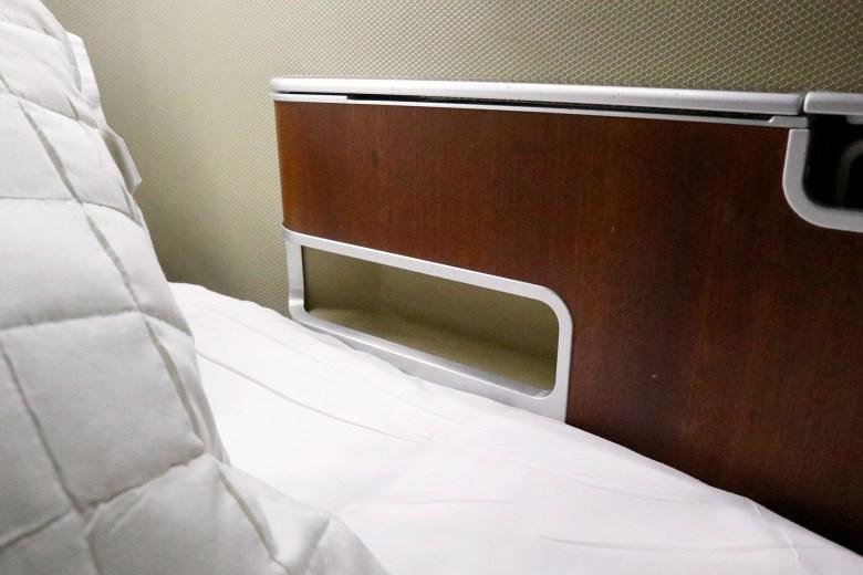 Qantas A380 First Class Seat Storage