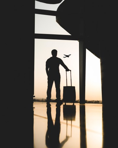 Man with Suitcase Airport (Yousef Alfuhigi)