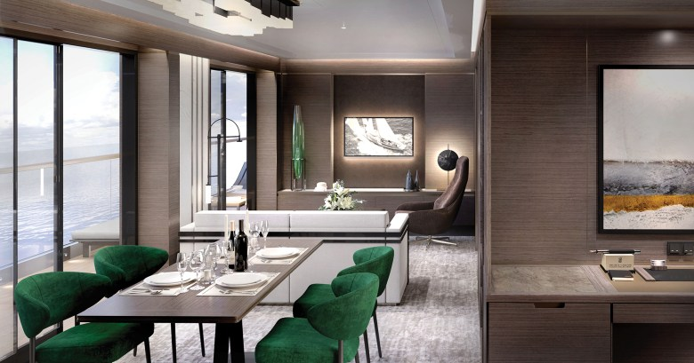 The Grand Suite_Living Area (The Ritz-Carlton Yacht Collection)