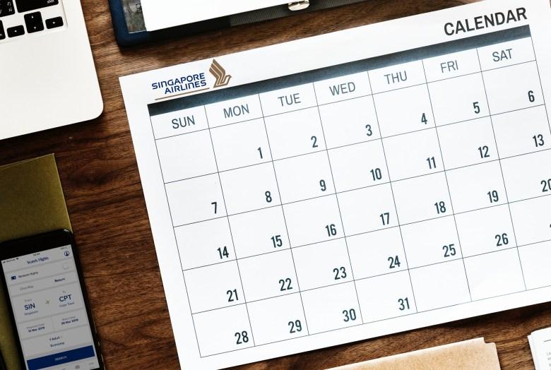 SIA Calendar 2