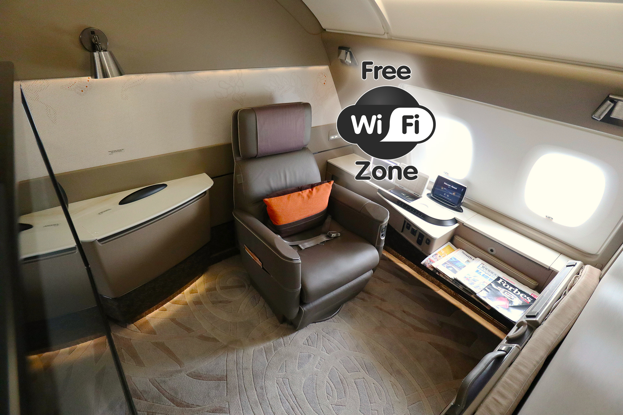 Singapore Airlines now offers free Wi-Fi in First Class, 100MB in Business