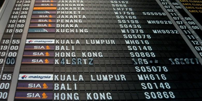 Changi T2 Flipboard 2