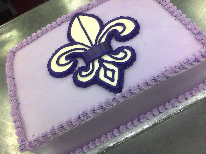 Fleur De Lis Main Made Custom Cakes