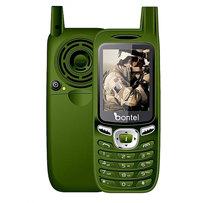 Bontel 8400-Big Battery Phone  50 Days Standby Time  Big Speaker  Fashion  Appearance-Green – MainMarket Online