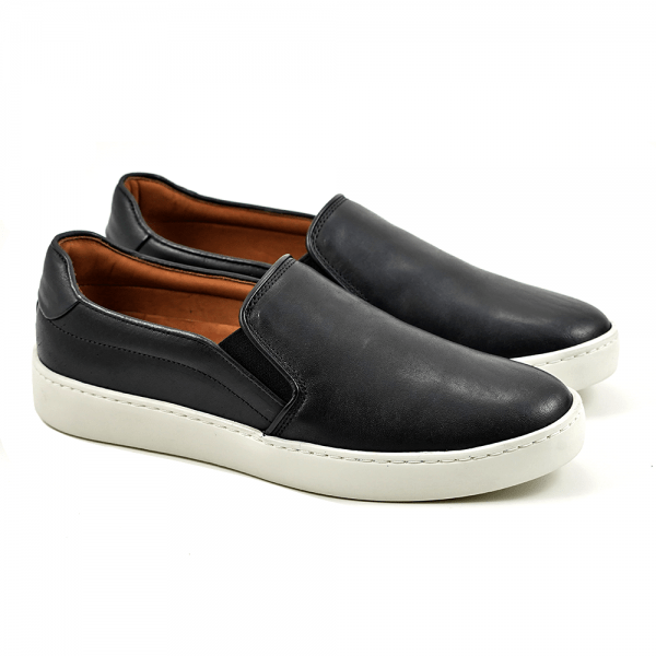 Sapato Masculino Main Shoes Slipon Madrid Preto