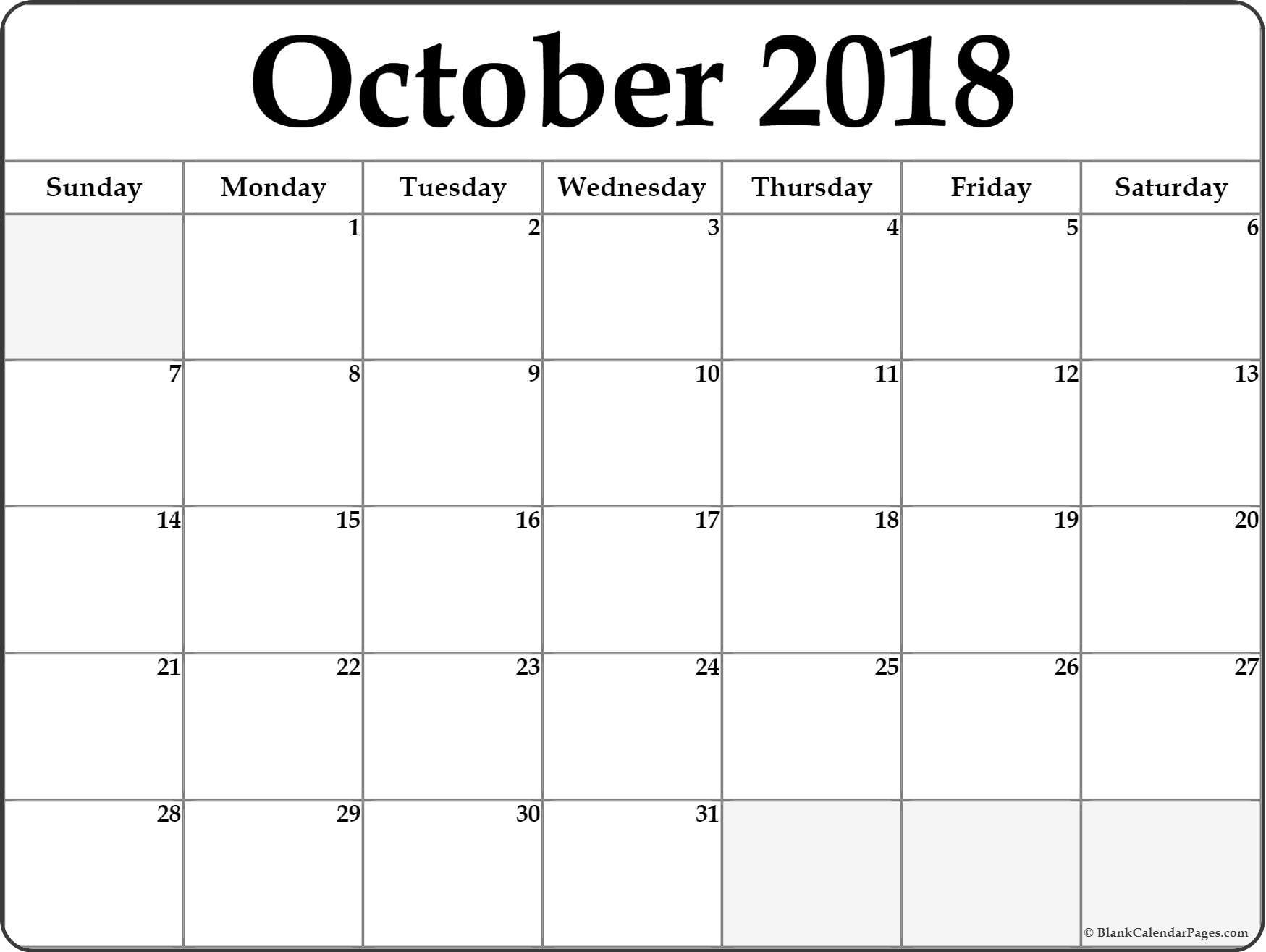 october 2018 calendar b4