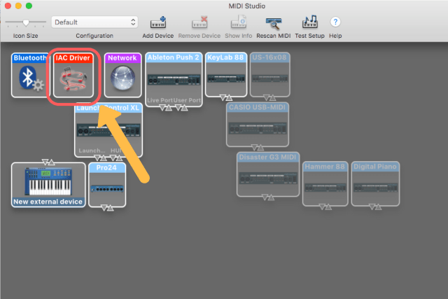 Setting up your IAC driver — Mainstage To Ableton
