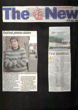 stolen camera and art exhibition
