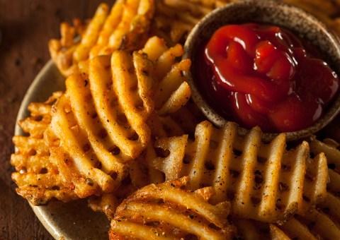 waffle cut fries
