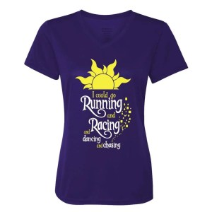 I-could-go-running-ladies-performance-vneck-purple