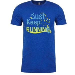 Just-keep-running-unisex-cotton-poly-crew-royal-blue