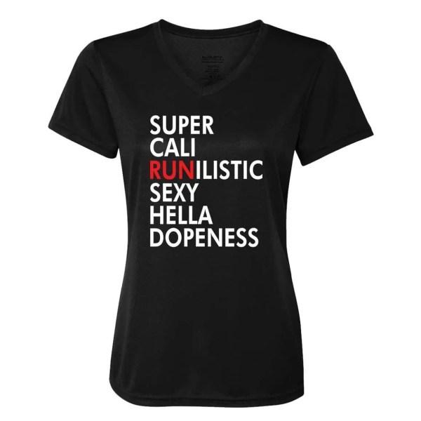 Supercalirunalistic-ladies-performance-vneck-black
