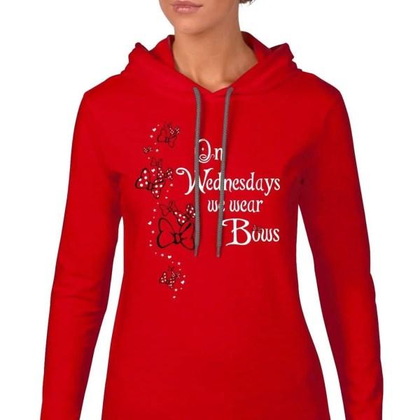 We-wear-bows-ladies-lightweight-hoodie-red