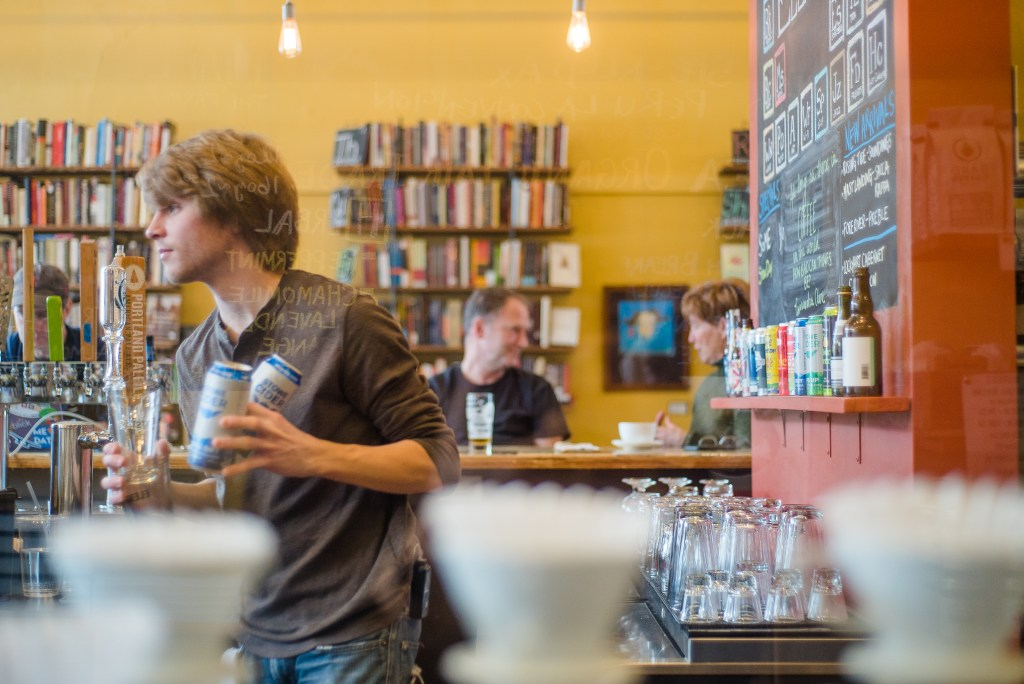 Element Book Store & Brew in Biddeford Maine