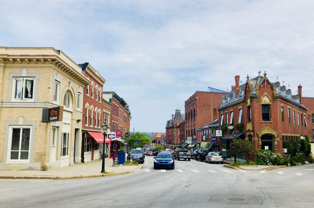 Downtown Belfast Maine by BC
