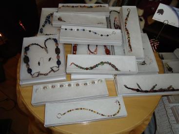 Jewelry by Ellen Miller.