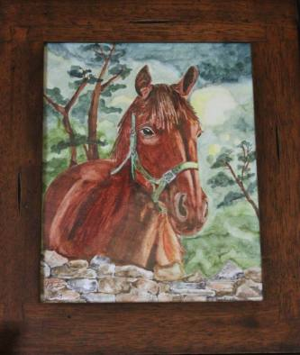 Paintings by Jennifer Brown.
