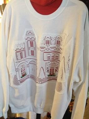 Sweatshirts by Marilyn Oland.