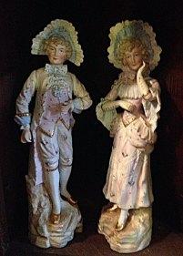 Vintage porcelain Shepherd and Shepherdess.