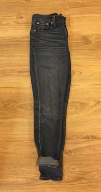 The jeans. The jeans pictured are J.Crew toothpick style, but any one of your favorite dark wash jeans would work!