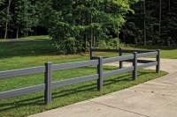 2 - Rail Post and Rail Vinyl Fencing   Maintenance-Free