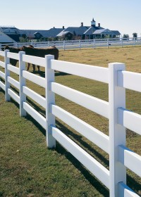 4 - Rail Post and Rail Vinyl Fencing   Maintenance-Free