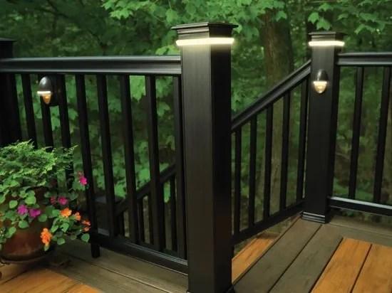 timbertech azek deck rail lighting accent light