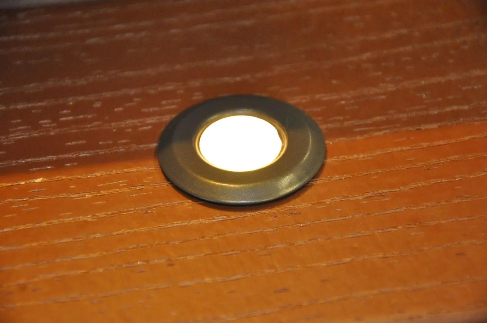 timbertech azek deck rail lighting in deck light